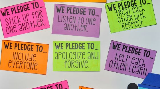 Classroom Pledge Ideas : Class pledge b t s book activities step into nd grade