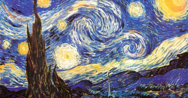 Value Balance Art Definition : Starry night by van gogh quot has asymmetrical