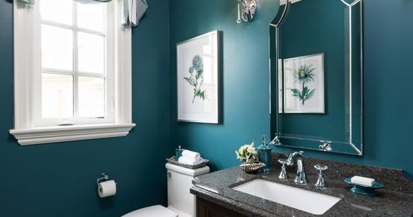 The colour is stained glass csp 685 by benjamin moore for Bathroom remodel under 5 000