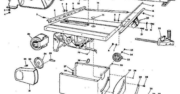 craftsman table saw parts diagram view  ncwoodworker net parts of a table
