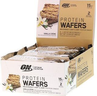Optimum Nutrition Wafers De Proteina Creme De Baunilha 9 Pacotes 40 G Iherb In 2020 Optimum Nutrition Whey Protein Optimum Nutrition Whey Optimum Nutrition