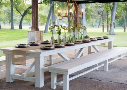 The Massive Outdoor Dining Table Crafted From Salvaged Wood Is - 10 foot outdoor dining table