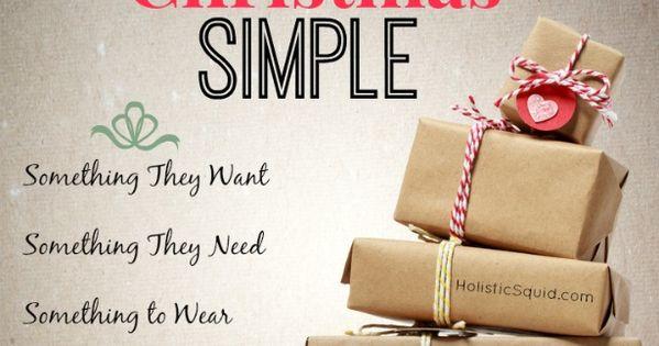 Minimalist Christmas gifts.