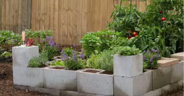 12 avantages faire son jardin avec des blocs de b ton for Jardin malin