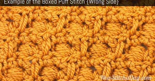 Example of the Boxed Puff Stitch. (Wrong Side) Crochet Pinterest ...