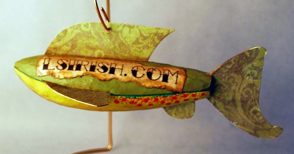 Folk art fish decoy carving