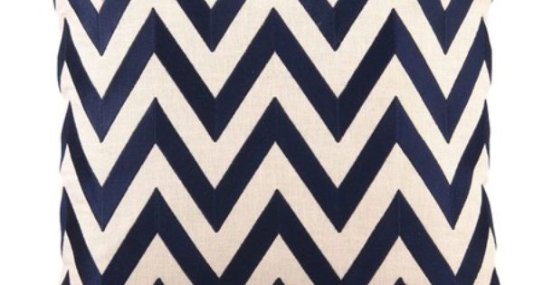 I pinned this Chevron Pillow I in Navy from the Links &
