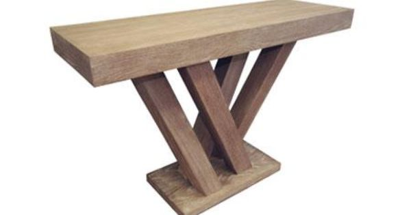 Madero Console Table Driftwood Display Cases