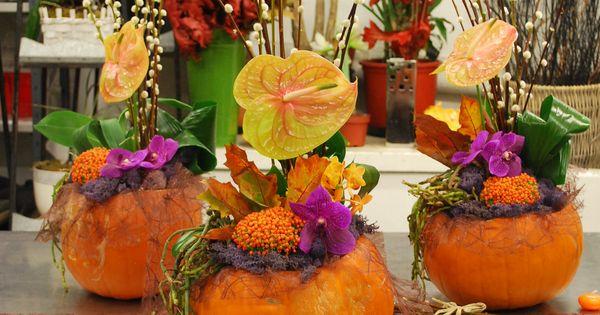 Citrouille et fleurs de saison ! Une jolie décoration pour lautomne ...