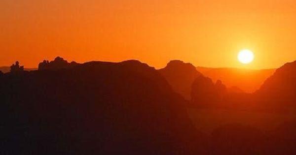 سحر غروب الشمس في صحراء الجزائر وسحر الجزائر Sunset Sunrise Celestial