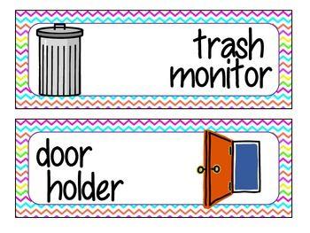 Hoot Hoot I M A Helper Free Classroom Job Chart Classroom