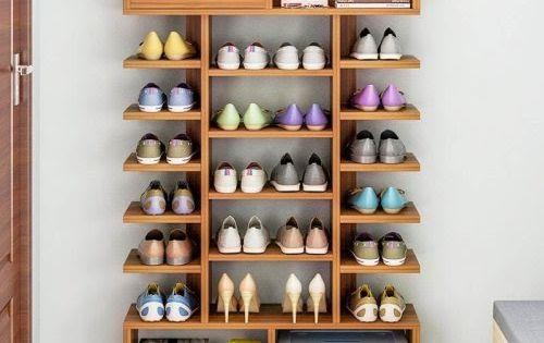 Contoh Model Rak Sepatu Dari Kayu Di 2020 Rak Rak Sepatu
