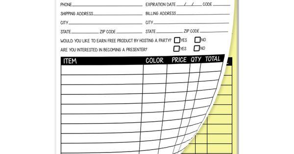 Carbonless Order Form Pad Chula Vista Younique 3D Mascara - duplicate order form