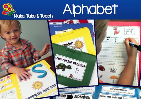 File Folder Phonics for learning the alphabet. Fun hands-on activities for learning