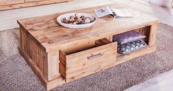 Couchtisch Colorado Akazie Massiv Holz Wohnzimmertisch Beistelltisch Tisch Couchtisch Couchtisch Holz Wohnzimmer Tisch Weiss