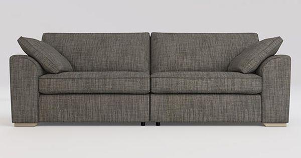 Buy Stamford Extra Large Sofa 4 Seats Belgian Soft Twill Stripe Grey Large Square Angle Light From The Next Uk Online Shop Large Sofa Sofa Stamford