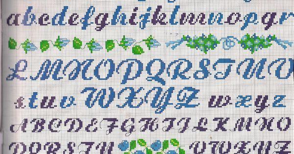 Alfabeti e numeri punto croce uncinetto - Numeri adesivi leroy merlin ...