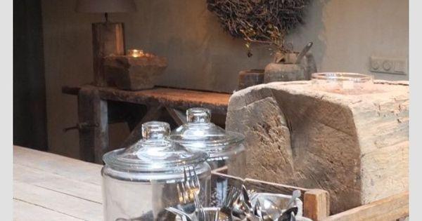 Pin van jolien noyens op decoratie landelijk wonen pinterest keuken interieur en decoratie - Model van interieurdecoratie ...