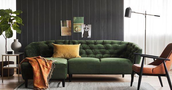Ria Canape Sectionnel Capitonne En Velours Must Societe In 2020 Home Decor Furniture Decor
