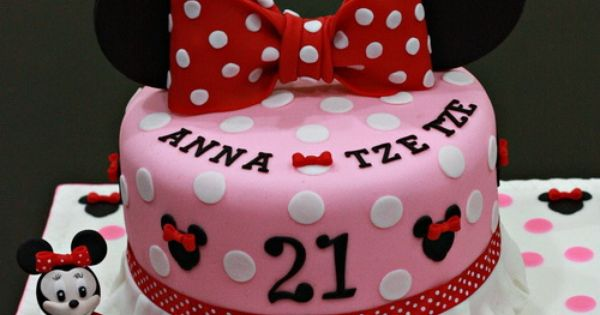 minnie mouse 21st birthday cake  Birthday Cakes  Pinterest ...
