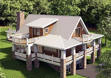 Plan 18250be adorable cottage with wraparound views for House plans with loft and wrap around porch