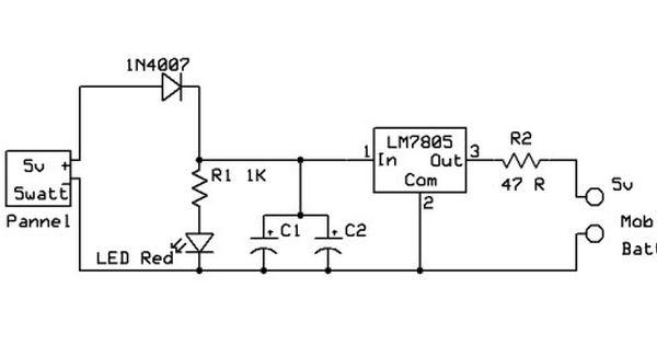 Solar Panel Charger Circuit Design