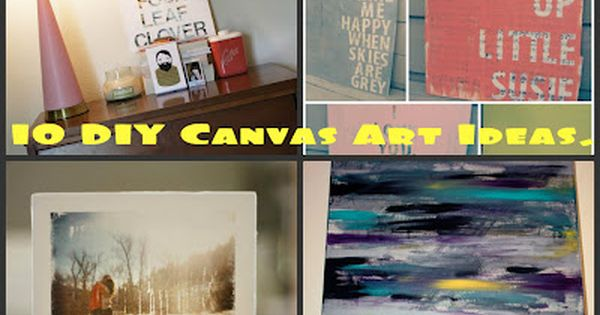 10 DIY canvas art projects - photo canvas project