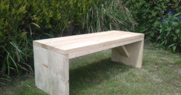 Details about Rustic Hand made Wooden Pine Garden Bench Furniture Reclaimed  Scaffolding Boards
