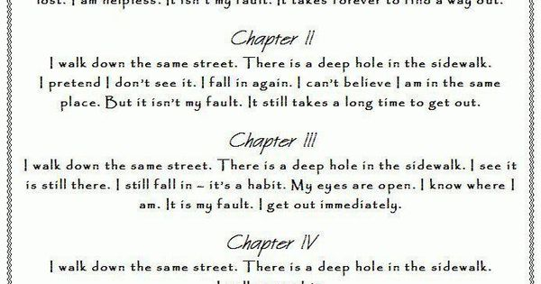 Portia Nelson, Autobiography in Five Short Chapters ...