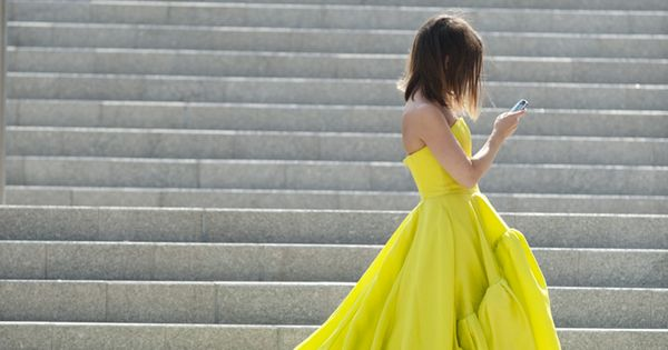 Jason Wu yellow gown Spring/Summer 2012