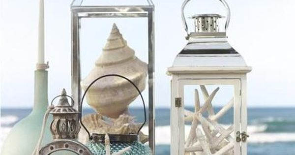Great lanterns and beach decor from Pottery Barn