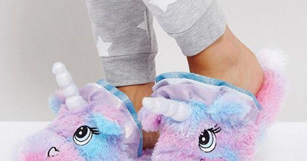 Fluffy Unicorn Slippers   Unicorn