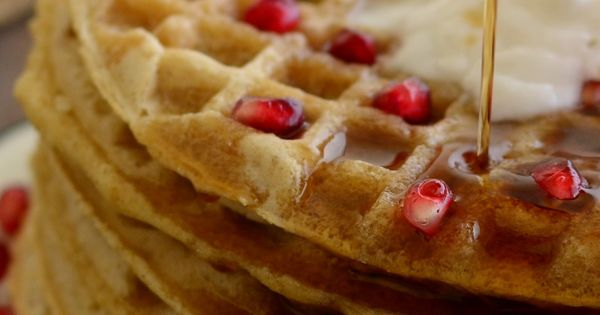 Simple Oat Waffles...just 5 healthy ingredients that you probably have in the