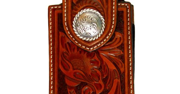 Brown Tooled Cell Phone Case 0688408 $28.00 : Cell Phone and Tablet ...