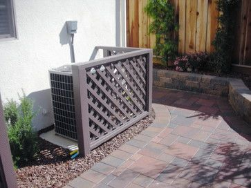 Air Conditioner Cover Design Ideas Pictures Remodel And Decor Traditional Landscape Air Conditioner Screen Outdoor