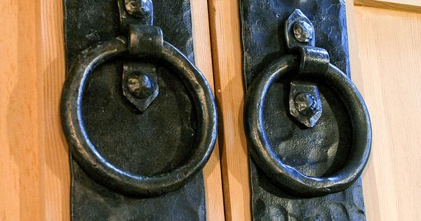 Appleseed diamond rustic ring pull carriage doors for Real carriage hardware