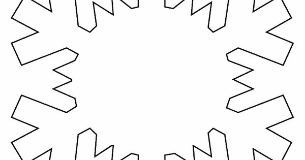 Snowflake Simple-shapes Coloring Pages & Coloring Book