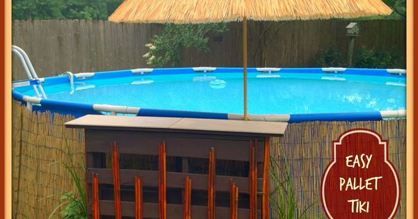 Pallet Bar Above Ground Pool Decor Above Ground Pool