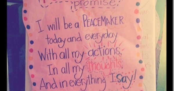 Classroom Management - peacemakers and peacebreakers (bucket filling)