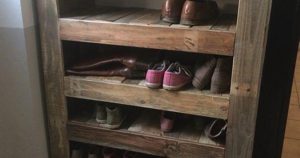 Un Joli Meuble Chaussure Fait De Palette Tout Fabrication Maison 6h De Travail N Cessaire Tout