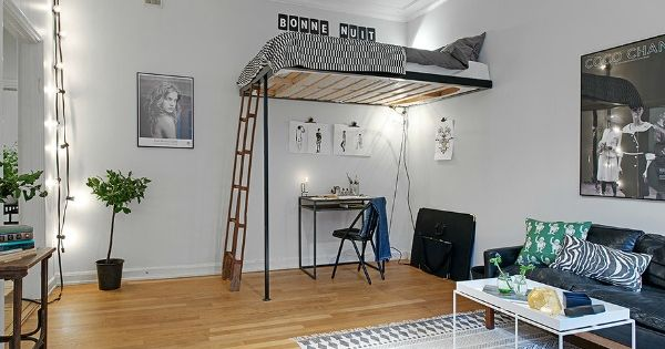Dise os interiores baratos loft pisos peque os pinterest for Diseno pisos pequenos