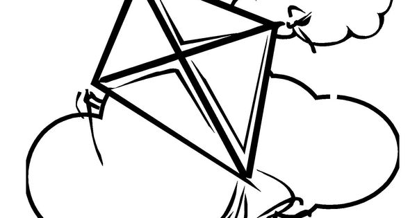 Trust God Kite coloring page.