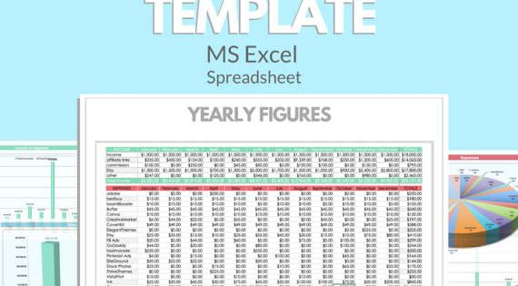 BUSINESS BLOG EXCEL Template Profit Loss Inventory Expense Revenue - business inventory template
