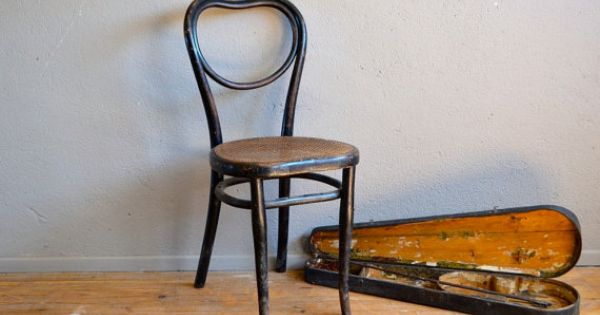 Chaise Bistrot Thonet Bois Courb 1900 Assise Coeur