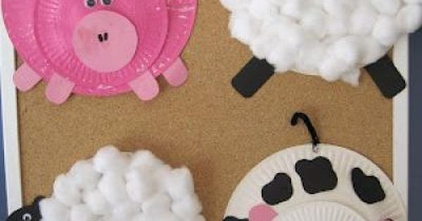 Paper Plate Farm animals--- So fun to do with kids! Ontario farm