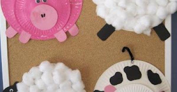 Paper Plate Farm animals--- So fun to do with kids! Ontario farm