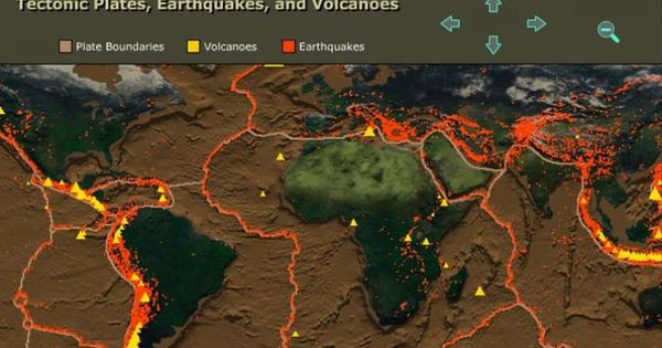 Tectonic Plates Earthquakes And Volcanoes Science
