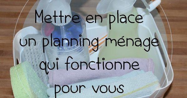mettre en place un planning m nage qui fonctionne pour vous planning a imprimer gratuitement. Black Bedroom Furniture Sets. Home Design Ideas
