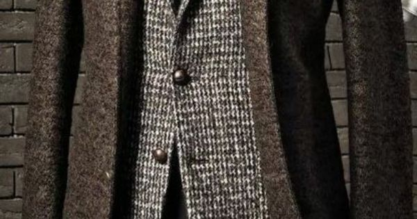 Mena??s Suit with overcoat. Wool-Texture-EXQUISITE | See more about Mens Suits, Suits and Gentleman Fashion.