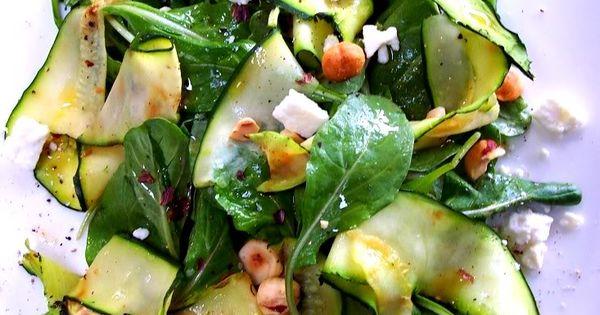 Zucchini Ribbon Salad zucchini feta healthy salads sides